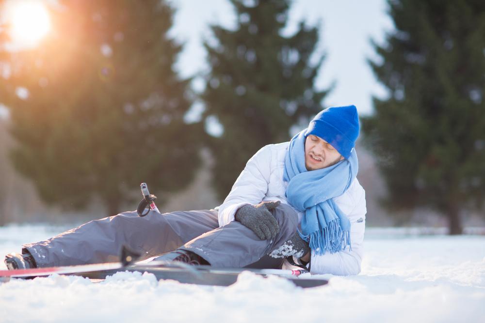 Brutta caduta sugli sci?