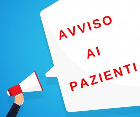 21/12: chiusura anticipata Punto Prelievi Corso Italia